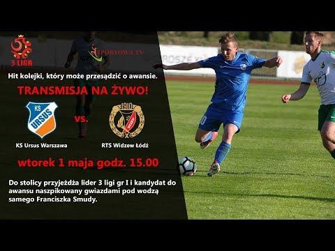 3 liga piłki nożnej KS Ursus Warszawa vs RTS Widzew Łódź [1.05.2018]