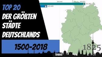 Größte Städte Deutschlands - Top 20 Chart (1500-2018)