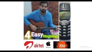 4 Most Easy Ringtones On Guitar - NOKIA , AIRTEL , XIAOMI , IPHONE - Hindi Easy Tabs Lesson