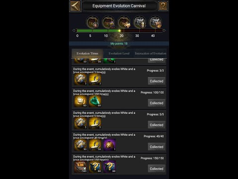 Clash Of Kings :- EQUIPMENT EVOLUTION CARNIVAL (tips And Tricks)