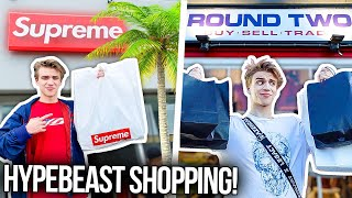I Went Hypebeast Shopping in LA!! (Supreme Store/Round Two)
