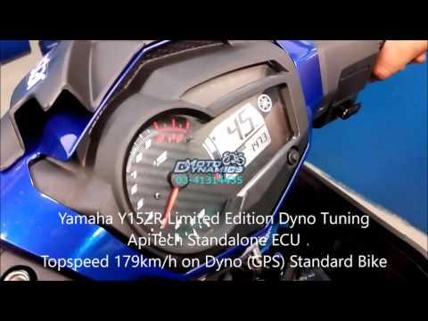 yamaha y15zr 6speed topspeed 188kmh yamaha y15zr exciter api tech ecu topspeed 179km h motodynamics technology