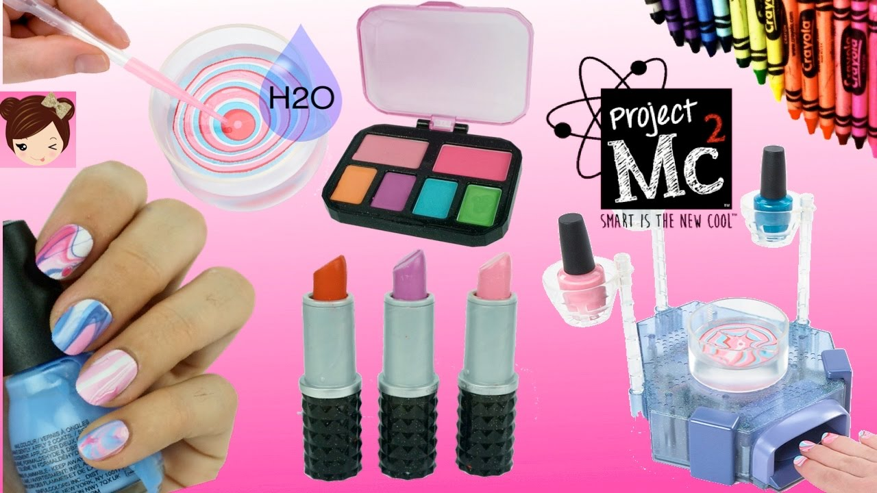 Project Mc2 Beauty Experiments H2O Nail Kit DIY Crayon lipsticks Lip ...