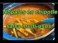 NOPALES EN CHIPOTLE GUISADO - SALSA MULTIUSOS - COOKING CACTUS - lorenalara144