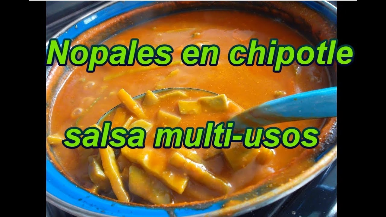 Nopales en chipotle cactus stew lorena lara youtube for Ahora mexican cuisine