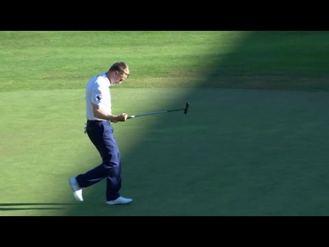 Russell Knox drains clutch putt to win Travelers - YouTube