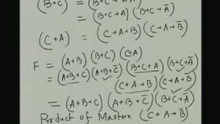 Lecture - 8 Boolean Function Minimization