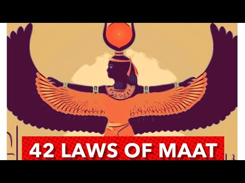 42 Laws Of Maat ( Ancestral Affirmations )