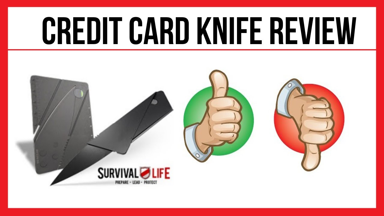 Credit Card Knife Free Survival Life