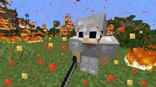 Beating Minecraft, But Iт Rains Lava...