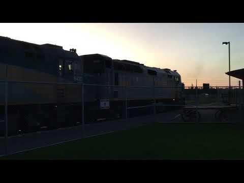 Via 6448 & 6446 idling at Edmonton Via Rail station
