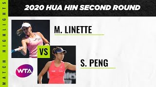 Magda Linette vs Peng Shuai | 2020 Hua Hin Second Round | WTA Highlights