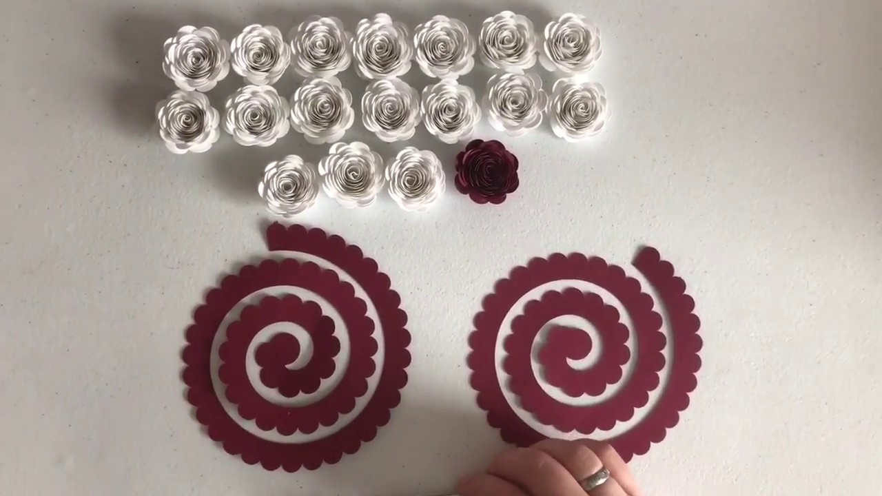 How To Make A Rolled Paper Flower With The Cricut By Lynzie Louu S Custom Crafts