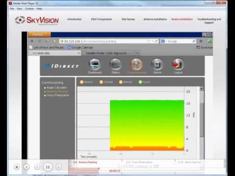 vsat tutorial - 5/6 idirect x1 router installation - satellite internet  connectivity - youtube