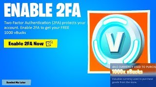 HOW TO CLAIM YOUR 1000 V-BUCKS FOR FREE IN FORTNITE! (2FA 1000 VBUCKS)