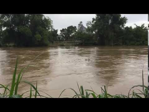 Lũ lụt nước tại cầu sắt nhơn phú chảy siết