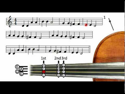 Twinkle Twinkle Little Star (metronome only) - Violin tutorial ...