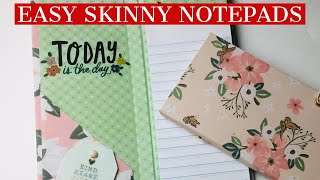 MAKE YOUR OWN SKINNY NOTEPAD IN ANY SIZE  ⭐️CRAFT FAIR GOLD⭐️