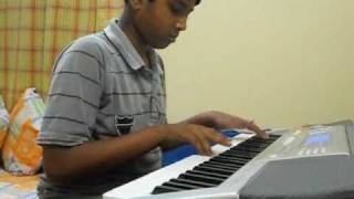 Dhoom Machale - Hindi movie song (instrumental ) played by ambar on piano/keyboard