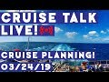 🔴LIVE! | Cruise Talk Sunday! | Do You Plan or Should You Go With The Flow???