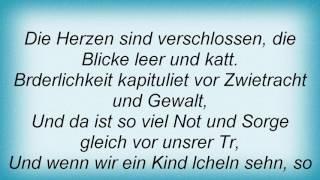 Reinhard Mey - Die Mauern Meiner Zeit Lyrics