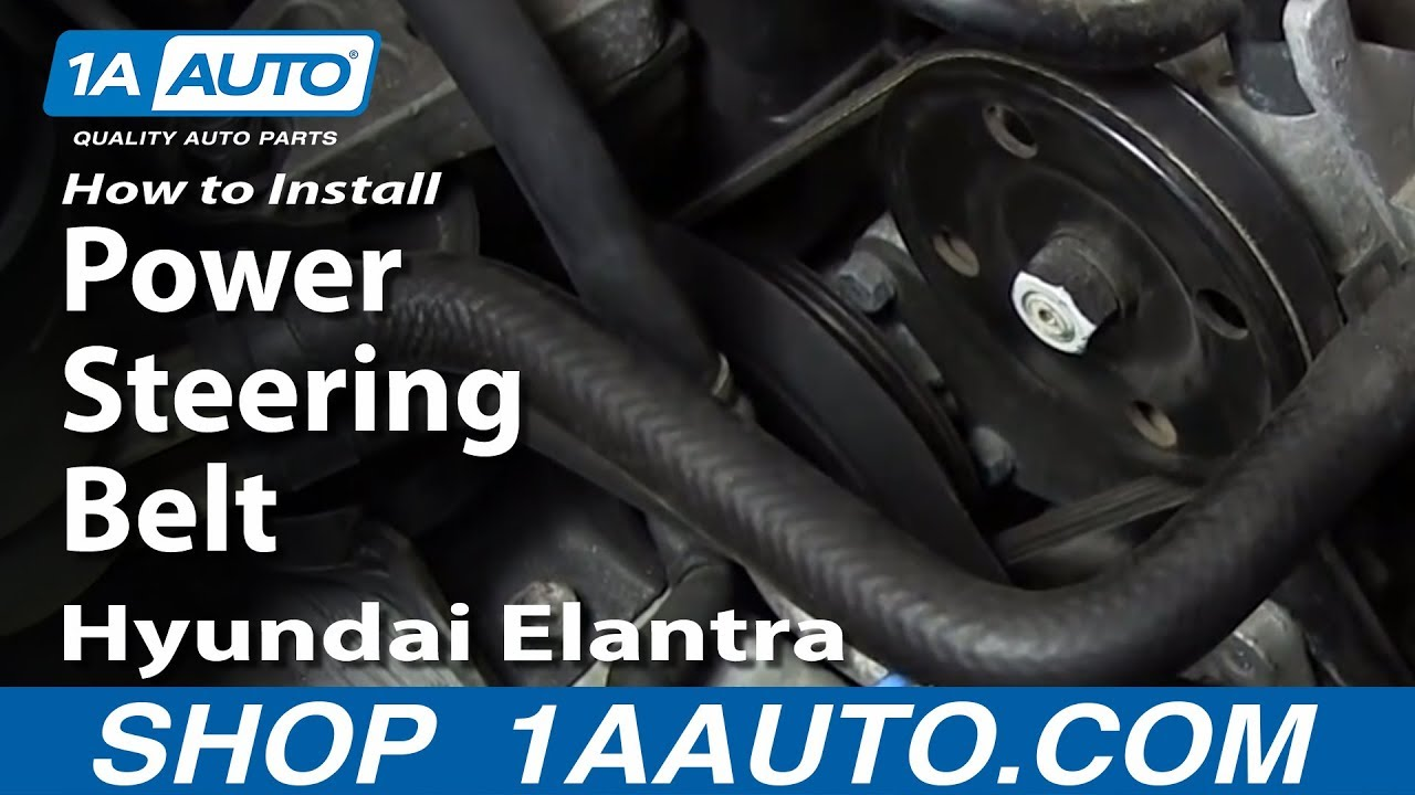 how to install replace power steering belt 2001 06 hyundai elantra rh youtube com