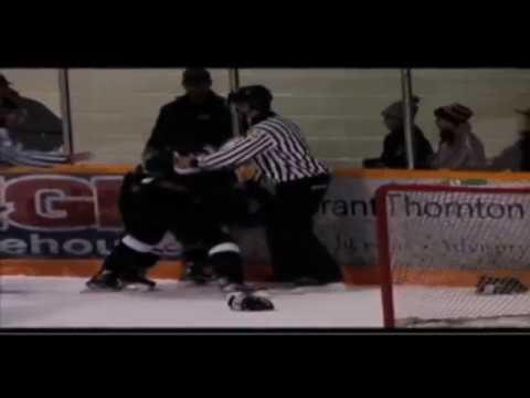 Hockey Fights  Wheatley vs Hedges Dec 9