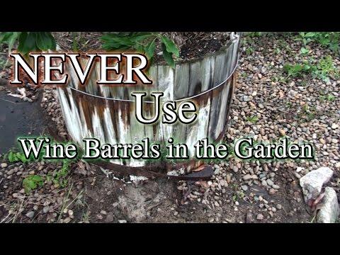 NEVER Use Fake Wine Barrels for Fruit or Veg Growing