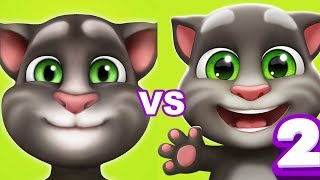 Мой Говорящий ТОМ vs Мой Говорящий ТОМ 2 игровой Мультик для Детей ТОМ и его Друзья