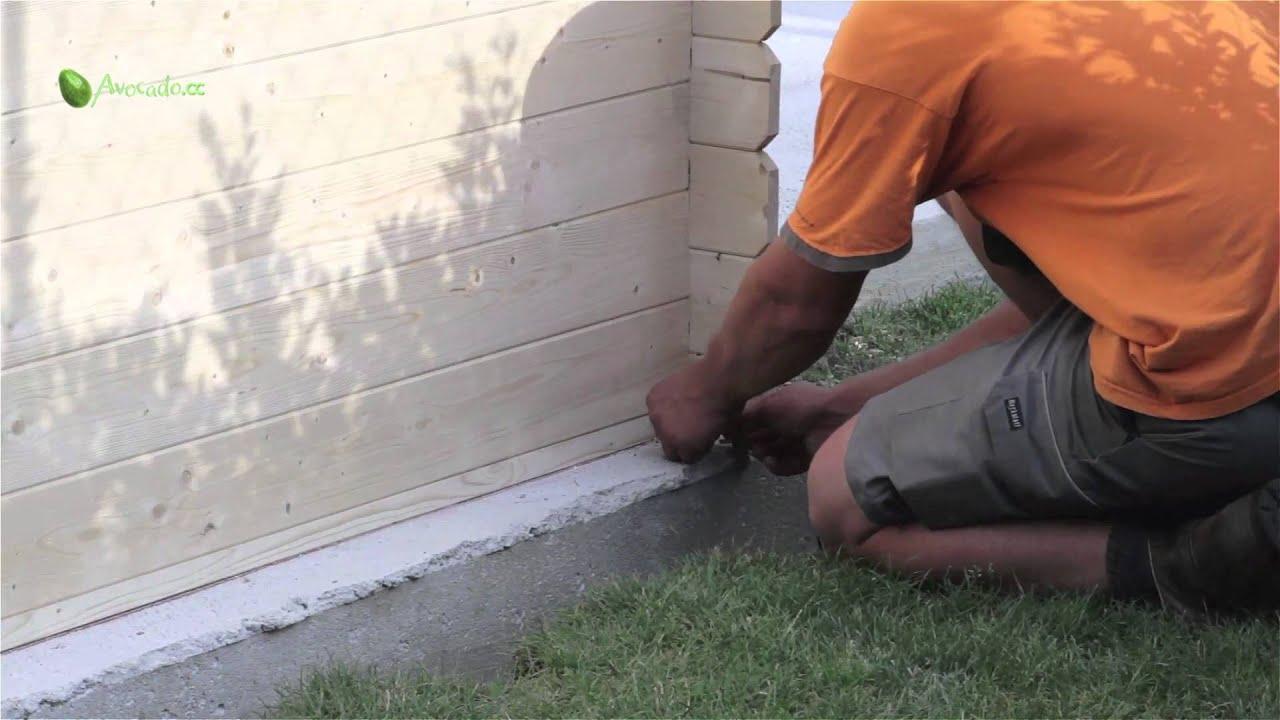 Gartenhütte bauen in 6 Schritten: Teil 5   Verspannung anbringen