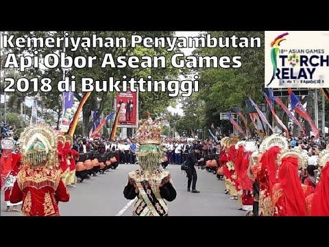 Pembukaan Kirab Obor Asian Games 2018 Di Bukittinggi