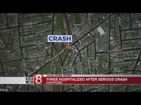 Hartford Police investigate 2 crashes involving stolen cars, 3 minors hurt