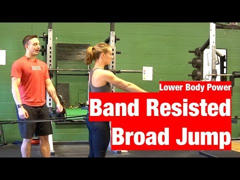 How To Perform The Band Resisted Broad Jump