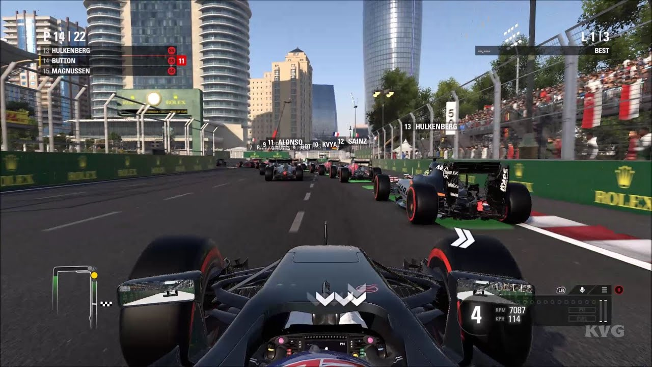 f1 2016 baku city circuit grand prix of europe gameplay pc hd 1080p60fps youtube. Black Bedroom Furniture Sets. Home Design Ideas