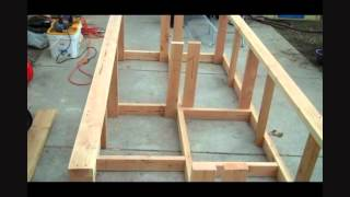 Building A Raised Bed / Rabbit Hutch Part 1