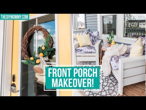 FRONT PORCH MAKEOVER with DIY Outdoor Chairs
