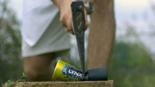 Axe Through a Deodorant Can - The Slow Mo Guys thumbnail