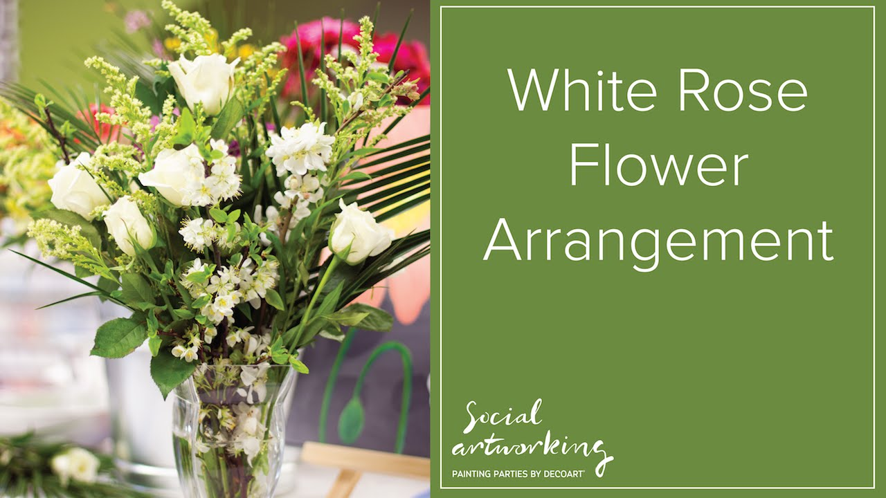 Flower Arranging With Donna Bush White Roses Youtube