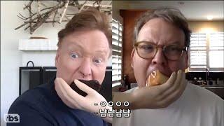 [KOR SUB] 사이좋게 서로 케이크를 먹여주는 코난과 앤디