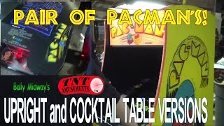 #865 Pair Of Midway Pacman Arcade Video Games! Upright & Cocktail - Tnt Amusements