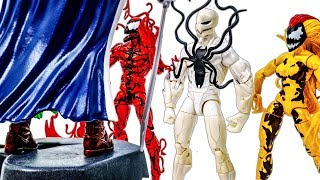 Citizen V Appeared~! Captain America Defeated By Carnage & Venom Army~ Superhero Toy #Toymarvel