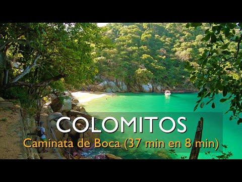 Caminata entera de 37 minutos, Boca de Tomatlán a Playa Colomitos en 8 minutos