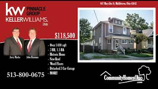 3 Bed 1.5 Historic Home for Sale w/Full Basement  807 Mary Etta St, Middletown OH