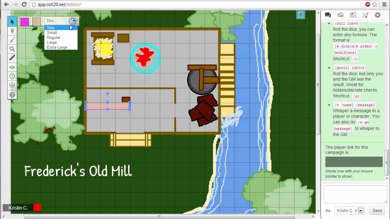 Drawing Tools - Roll20 Wiki on