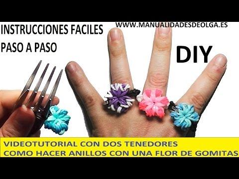 052fac17ce8d Como hacer anillo de gomitas - YouTube