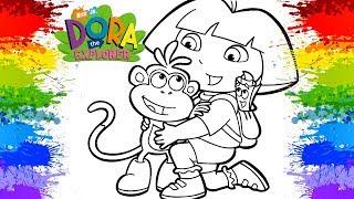 💗😘 DORA AVENTUREIRA em Português Jogos de pintar online videos infantis colorindo Jogos legais