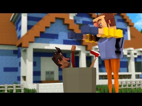 Minecraft - HOW TO GET AWAY WITH MURDER! (Hello Neighbor in Minecraft)