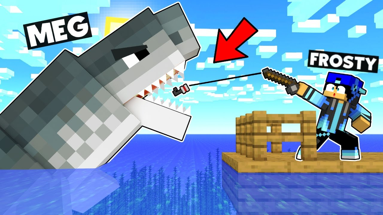 MINECRAFT BUT GIANT SCARY MEGLADON ATTACKS YOU