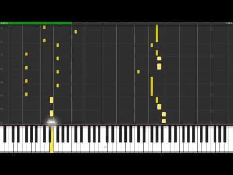 Basshunter - I can walk on water I can fly (piano version synthesia)