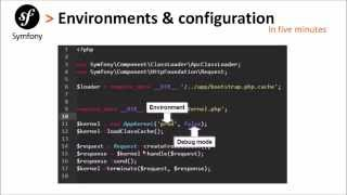 Symfony 2 # Episode 2: Environments and Cofiguration files in Under 5 minutes